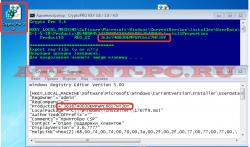 лицензионный ключ CryptoPro. открытия reg файла