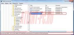 Выключение автозапуска Windows 7 и 8 через редактор реестра