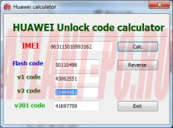 Huawei Unlock Code Calculator