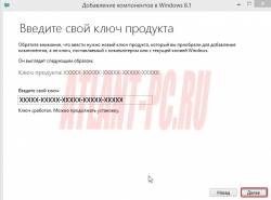 вводим ключ продукта windows 8